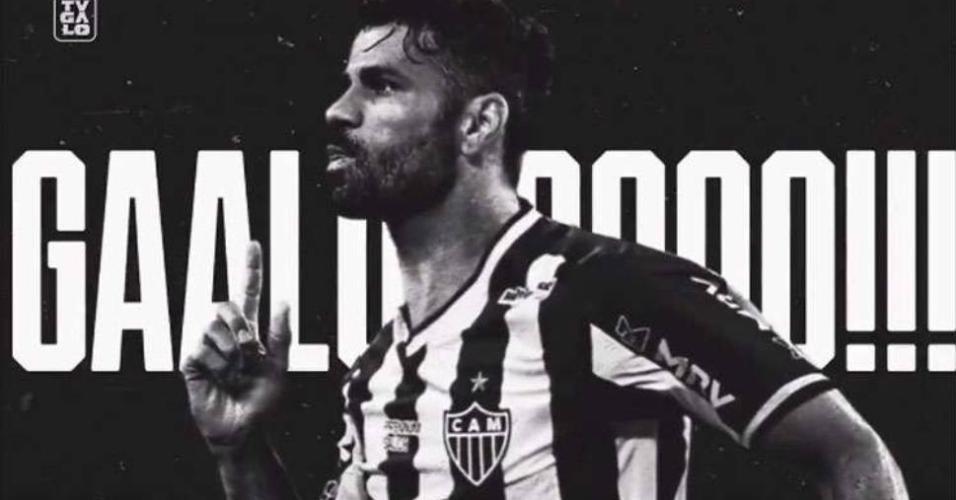 Galo divulgou contratação de Diego Costa com vídeos nas redes socias