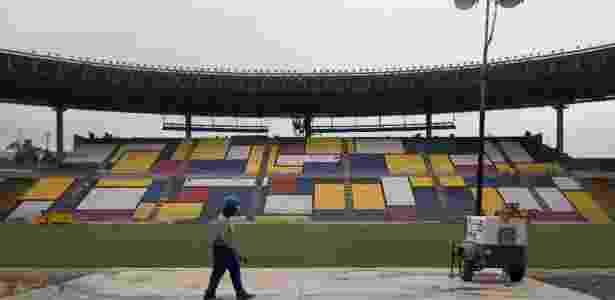 O estádio Kleber Andrade, em Cariacica (ES), recebe Flamengo e Internacional - Jussara Martins/Folhapress