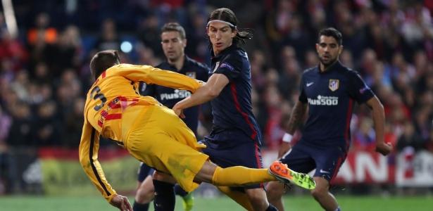 Filipe Luis teve atuação de destaque na partida entre Atlético de Madri e Barcelona