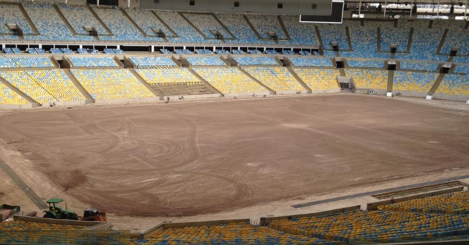 Após receber competições e cerimônias dos Jogos Olímpicos, o Maracanã corre contra o tempo para ficar pronto a tempo de receber partidas de futebol ainda em outubro. Confira como estão as obras no estádio