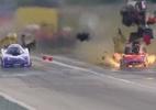 Carro explode durante prova de arrancada nos EUA, e piloto sai ilesa - Reprodução