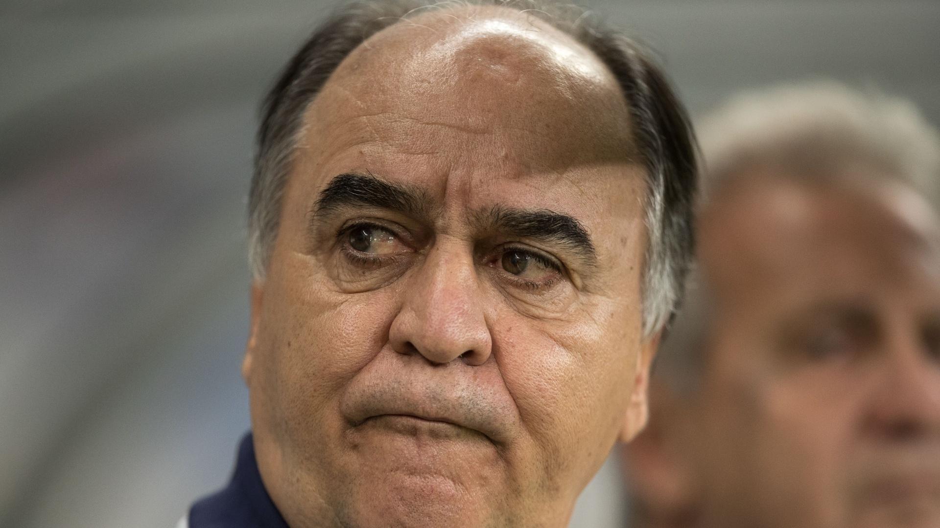 Marcelo Oliveira, técnico do Fluminense, em jogo contra o Cruzeiro