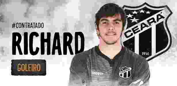 Ceará oficializa contratação do goleiro Richard bfb90fac62385