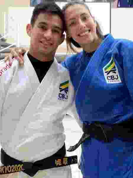 Os judocas Aléxia Castilhos e Eric Takabatake - Reprodução/Instagram