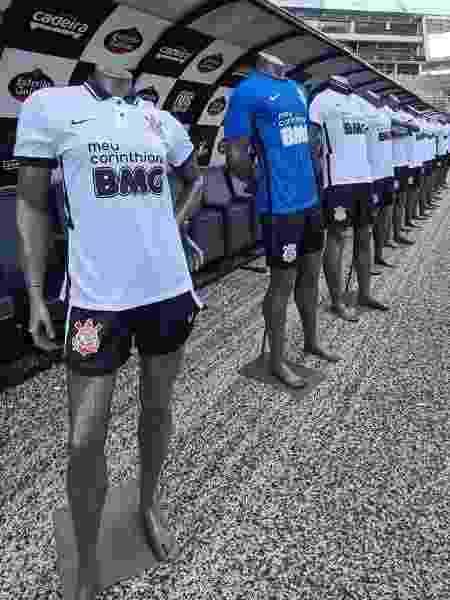 Banco BMG testou o uniforme com a logomarca preta na camiseta do Corinthians - Sarah Tonon/Banco BMG