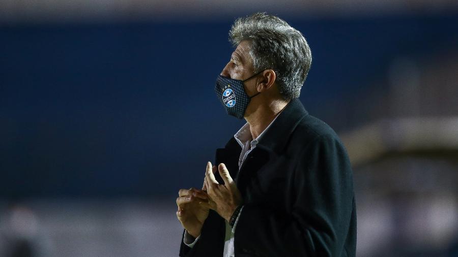 Renato Gaúcho atendeu pedido de Carol Portaluppi e dedicou título à esposa - Lucas Uebel/Grêmio FBPA