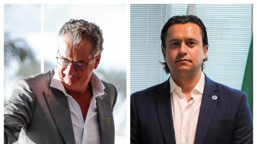 Presidentes do Atlético-MG (esq) e do Cruzeiro (dir) vivem situações opostas em seus respectivos clubes - Divulgação/Cruzeiro e Bruno Cantini/Atlético
