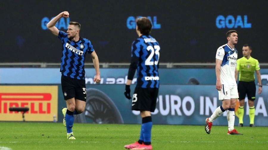 Inter de Milão e Atalanta jogam pelo Campeonato Italiano - Marco Luzzani/Getty Images