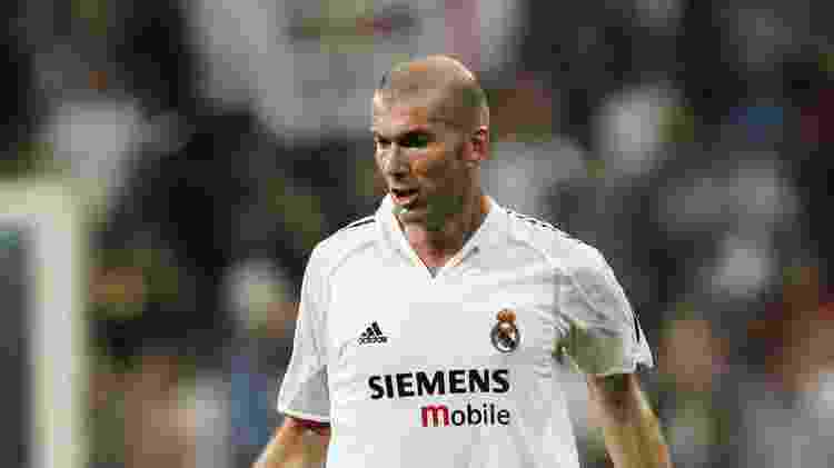 Zidane no Real Madrid (2004) - Getty Images - Getty Images