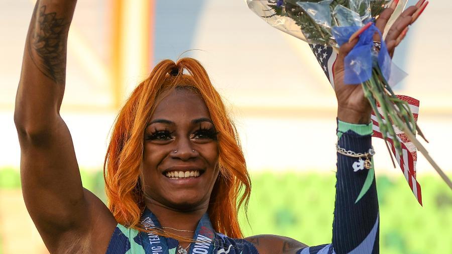 "Sha""Carri Richardson venceu a seletiva dos 100m rasos - Patrick Smith/Getty Images"