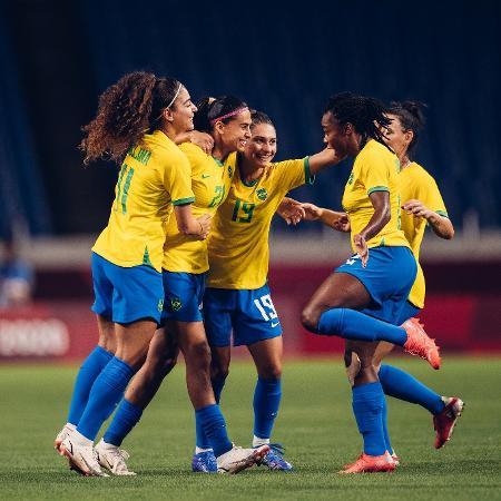 Andressa Alves comemora o gol da seleção brasileira contra a Zâmbia - Sam Robles/CBF