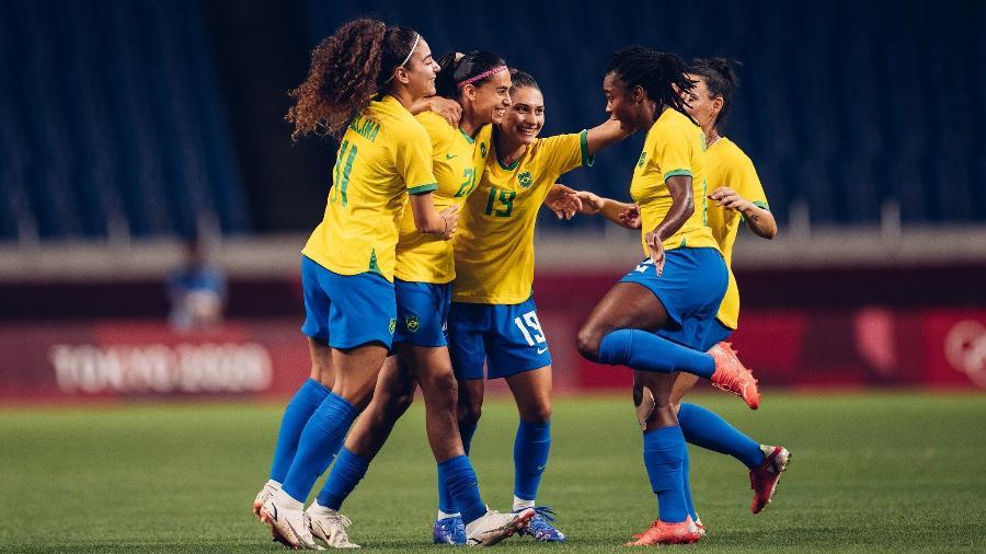 Andressa Alves marcou em cobrança de falta aos 18 minutos do primeiro tempo, em Saitama - Sam Robles/CBF