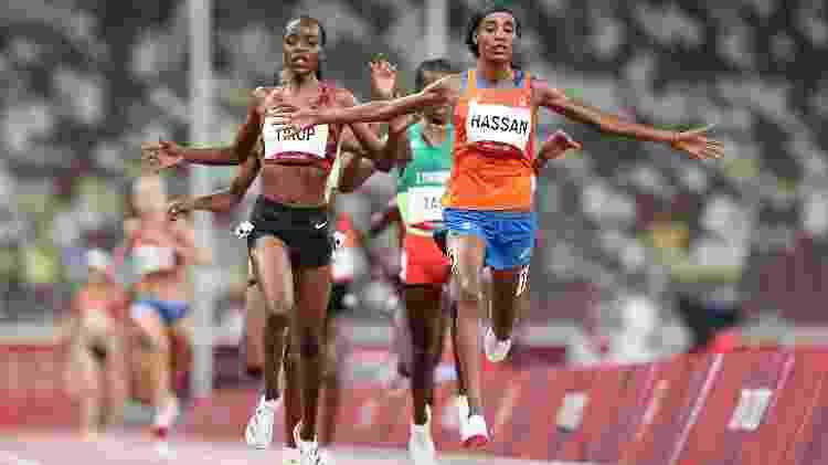 A holandesa Sifan Hassan é um dos grandes nomes do atletismo nas Olimpíadas de Tóquio - Christian Petersen/Getty Images - Christian Petersen/Getty Images