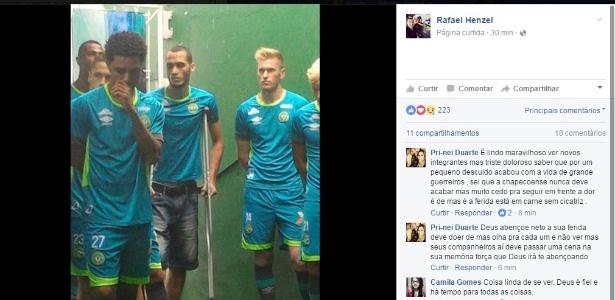 Jornalista Rafael Henzel publicou fotos da apresentação do elenco do clube