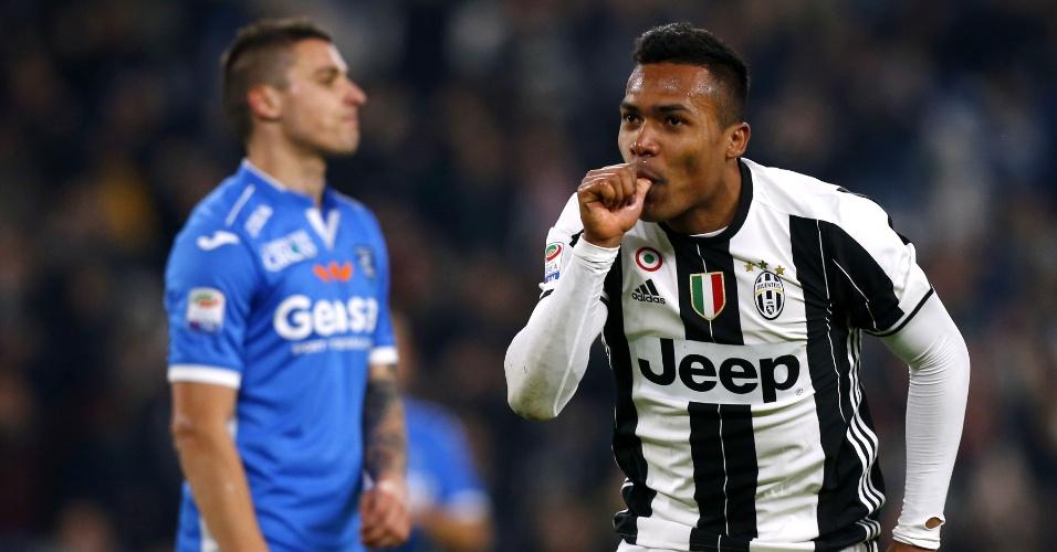 Alex Sandro marcou um belo gol na vitória da Juventus sobre o Empoli na Itália