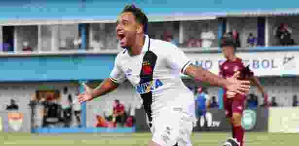 Hugo Borges comemora gol do Vasco sobre o Juventus na Copinha - Carlos Gregório Jr/Vasco - Carlos Gregório Jr/Vasco