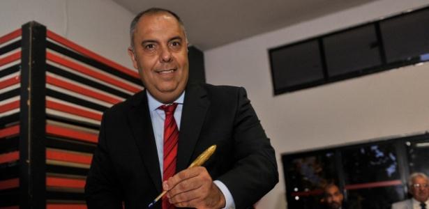 Marcos Braz tomou posse como vice-presidente de futebol do Flamengo - Divulgação