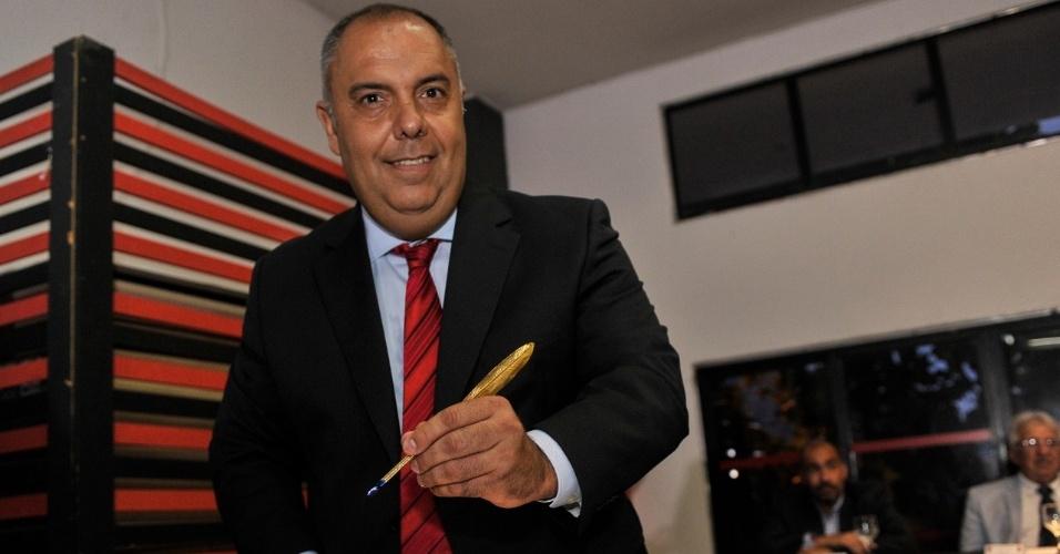 Marcos Braz toma posse como vice-presidente de futebol do Flamengo