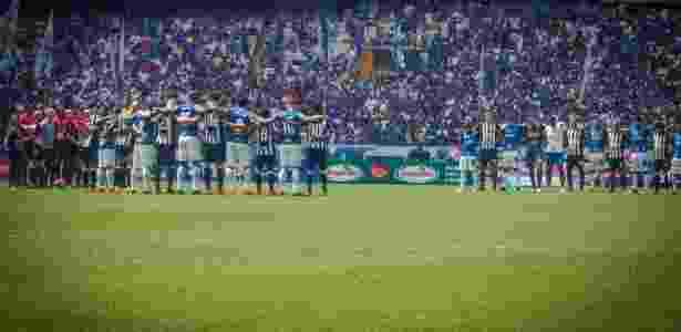 Jogadores de Atlético-MG e Cruzeiro fizeram homenagem antes de clássico - Vinnicius Silva/Cruzeiro