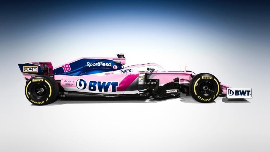 Carro da Force India para a temporada 2019 da Fórmula 1 - Dilvulgação