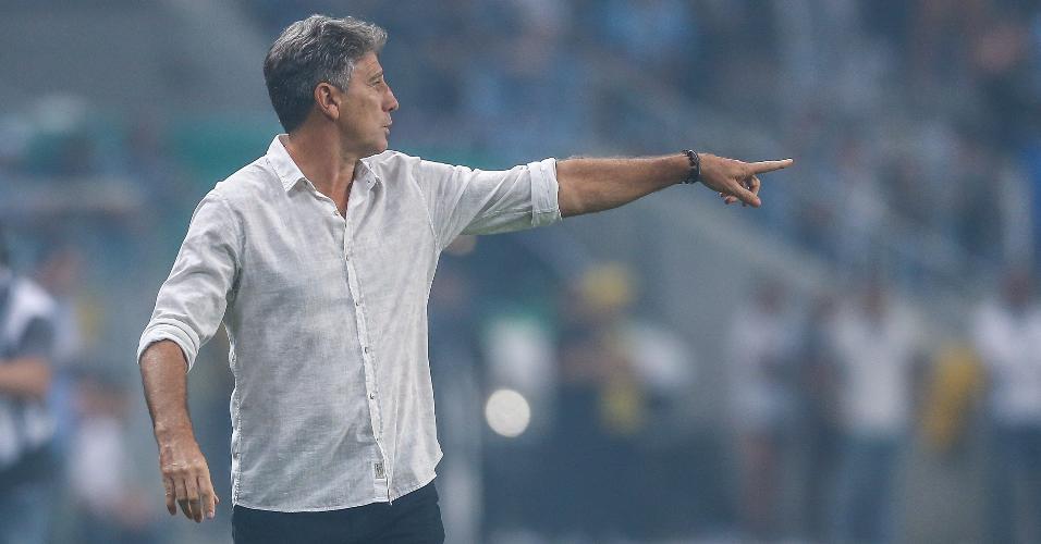 Renato Gaúcho, durante clássico entre Grêmio e Inter