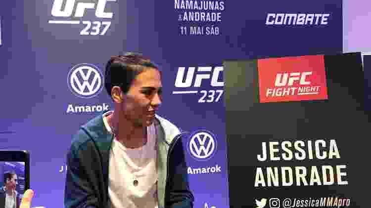 """Jessica """"Bate-Estaca"""" Andrade disputa o cinturão com a americana Rose Namajunas no UFC Rio 10 - Bruno Braz / UOL Esporte - Bruno Braz / UOL Esporte"""