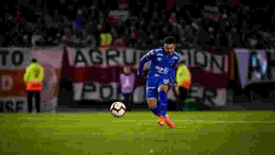 Marquinhos Gabriel chegou a marcar naquela que seria a única finalização certa do Cruzeiro, mas gol foi invalidado - Bruno Haddad/Cruzeiro