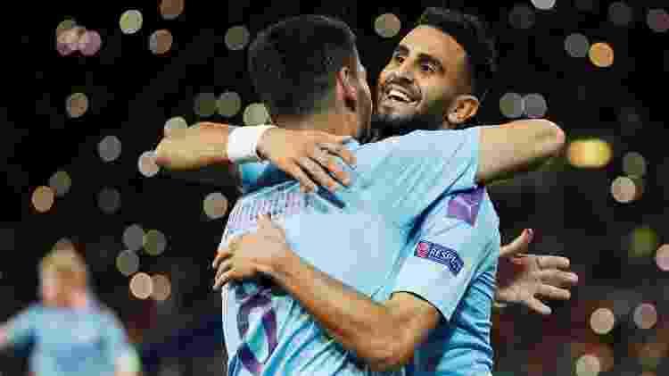 Mahrez e Gundogan marcaram pelo Manchester City contra o Shakhtar Donetsk - Gleb Garanich/Reuters