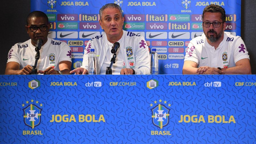 Tite se exaltou para fazer críticas à Pitch, empresa que organiza os amistosos da seleção brasileira - Pedro Martins/Mowa Press