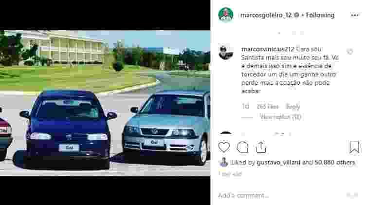 Rivais também curtem os comentários de Marcos - Reprodução/Instagram - Reprodução/Instagram