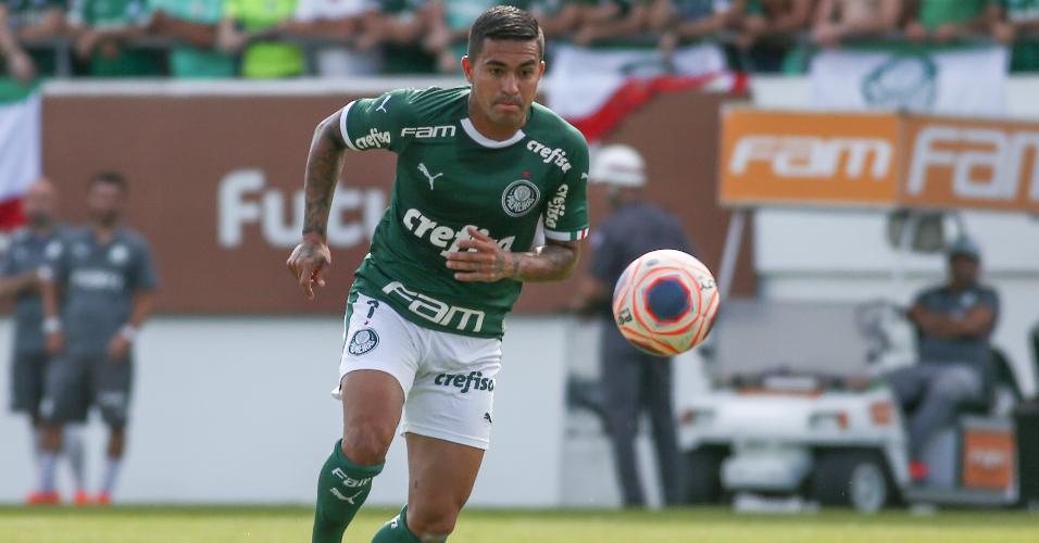 Dudu durante partida contra o São Paulo pelo Paulistão 2020