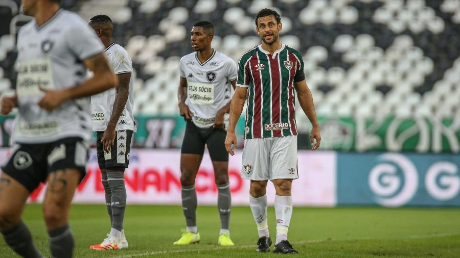 Atacante Fred, do Fluminense, no clássico com o Botafogo - Lucas Merçon / Fluminense F.C.