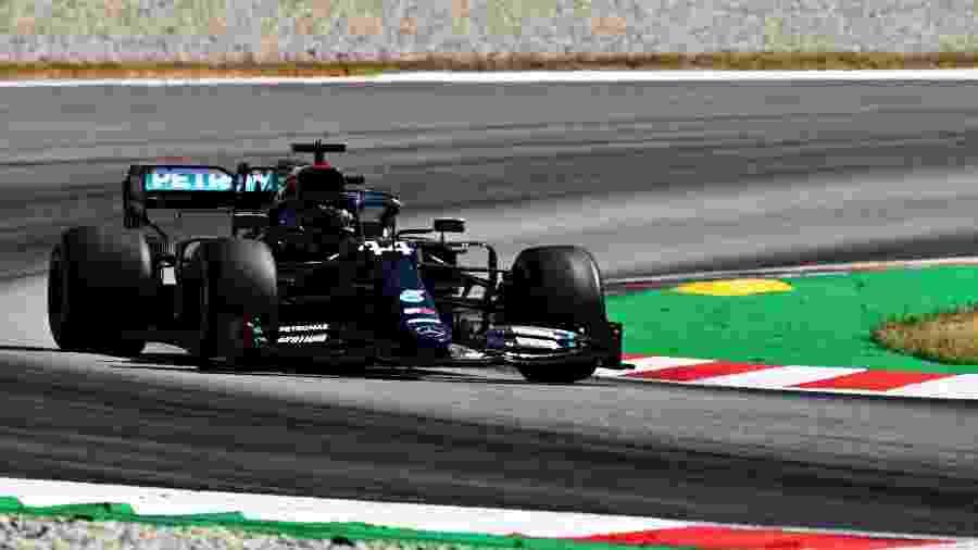 Lewis Hamilton durante o Grande Prêmio da Espanha - Clive Mason - Formula 1/Formula 1 via Getty Images