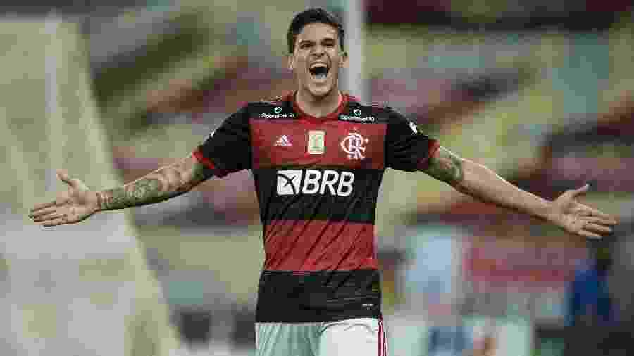 Pedro faz gol em partida do Flamengo pelo Campeonato Brasileiro - Jorge Rodrigues/AGIF