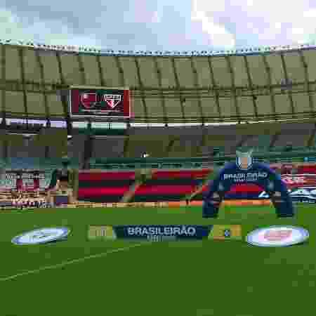 Maracanã antes de Flamengo x São Paulo pelo Brasileirão - Reprodução/Twitter