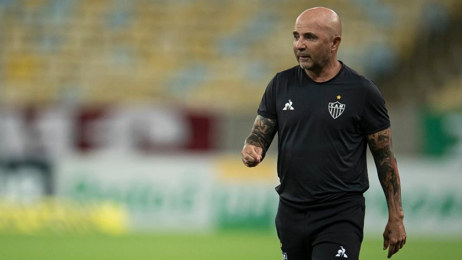 Jorge Sampaoli pode ter feito contra o Sport o seu último jogo como técnico do Galo - Jorge Rodrigues/AGIF