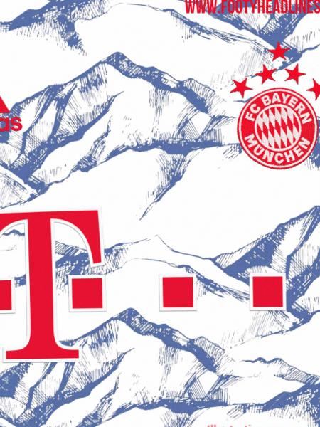 Possível terceiro uniforme do Bayern vaza na web - Reprodução/FootyHeadlines