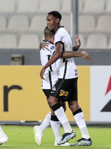 Atacante do Corinthians, Cauê marcou o segundo gol contra o Sport Huancayo, pela Sul-Americana - Rodrigo Coca/Agência Corinthians