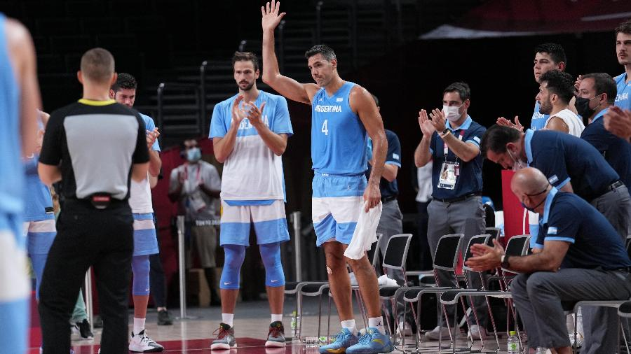 Scola fez seu último jogo pela seleção argentina de basquete nas Olimpíadas de Tóquio - Meng Yongmin
