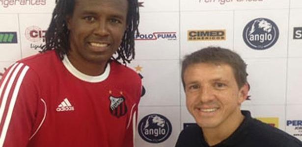 Juninho Paulista apresenta Roque Júnior como novo técnico do Ituano em 2017