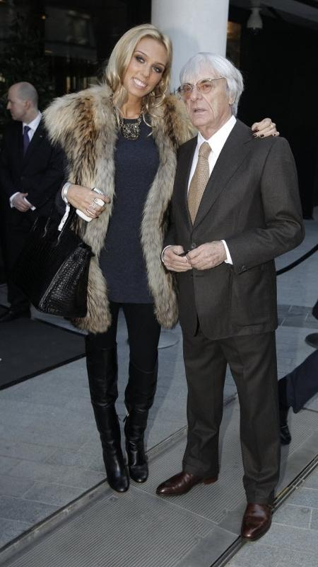 Petra Ecclestone e o pai Bernie Ecclestone - Reuters