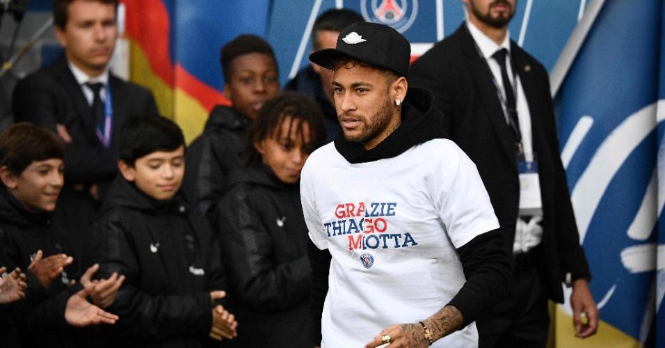 Neymar vai ao Parque dos Príncipes acompanhar despedida de Thiago Mota