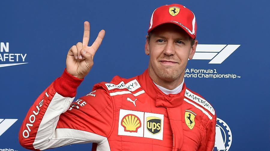 Sebastian Vettel foi superado por Hamilton no treino classificatório - JOHN THYS/AFP