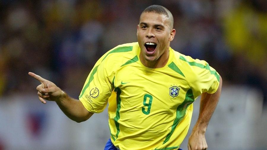 Ronaldo comemora gol marcado na Copa do Mundo de 2002 - Pressefoto Ulmer\ullstein bild via Getty Images