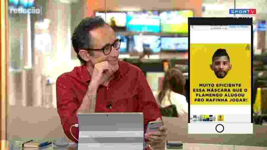 Redação SporTV exibe piada de programa do Esporte Interativo - Reprodução/SporTV