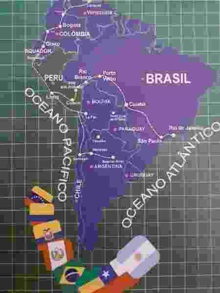 Trajeto feito pelo ônibus que sai do Rio de Janeiro em direção a Lima, no Peru - Leo Burlá / UOL