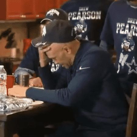 Drew Pearson, campeão pelo Dallas Cowboys em 1978, chora ao saber que não foi indicado ao Hall da Fama da NFL - Reprodução/Twitter