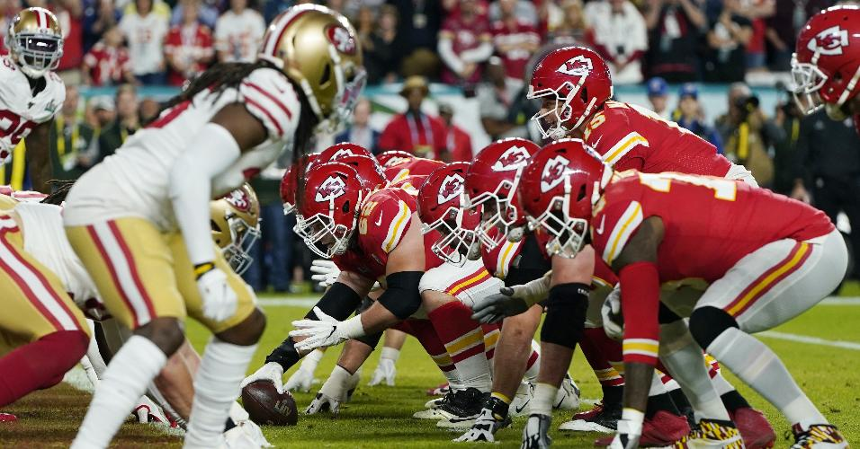 Kansas City Chiefs x San Francisco 49ers no Super Bowl 54