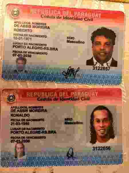 Ronaldinho Assis - Divulgação/Ministério Público do Paraguai - Divulgação/Ministério Público do Paraguai