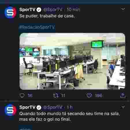 SporTV Twitter - Reprodução/Twitter - Reprodução/Twitter